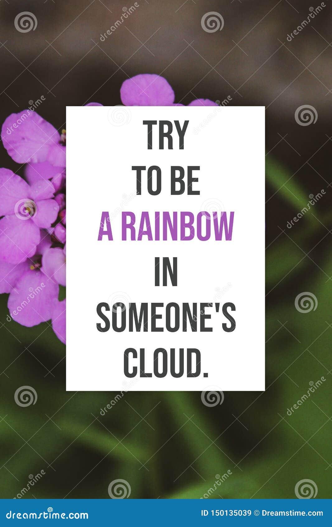 Tentativa inspirada do cartaz a ser um arco-íris em alguém nuvem
