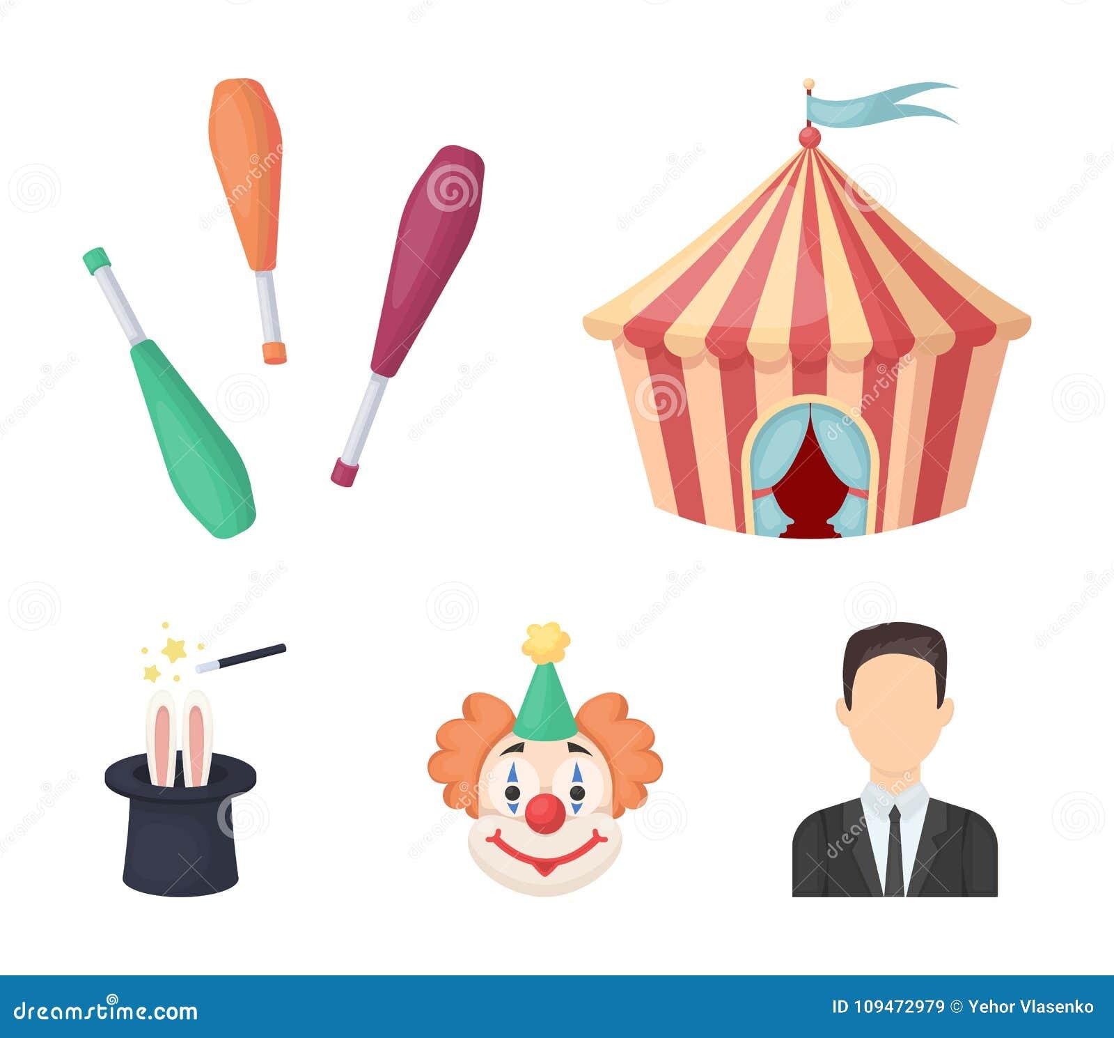 Tente De Cirque Macis De Jongleur Clown Chapeau Du S De