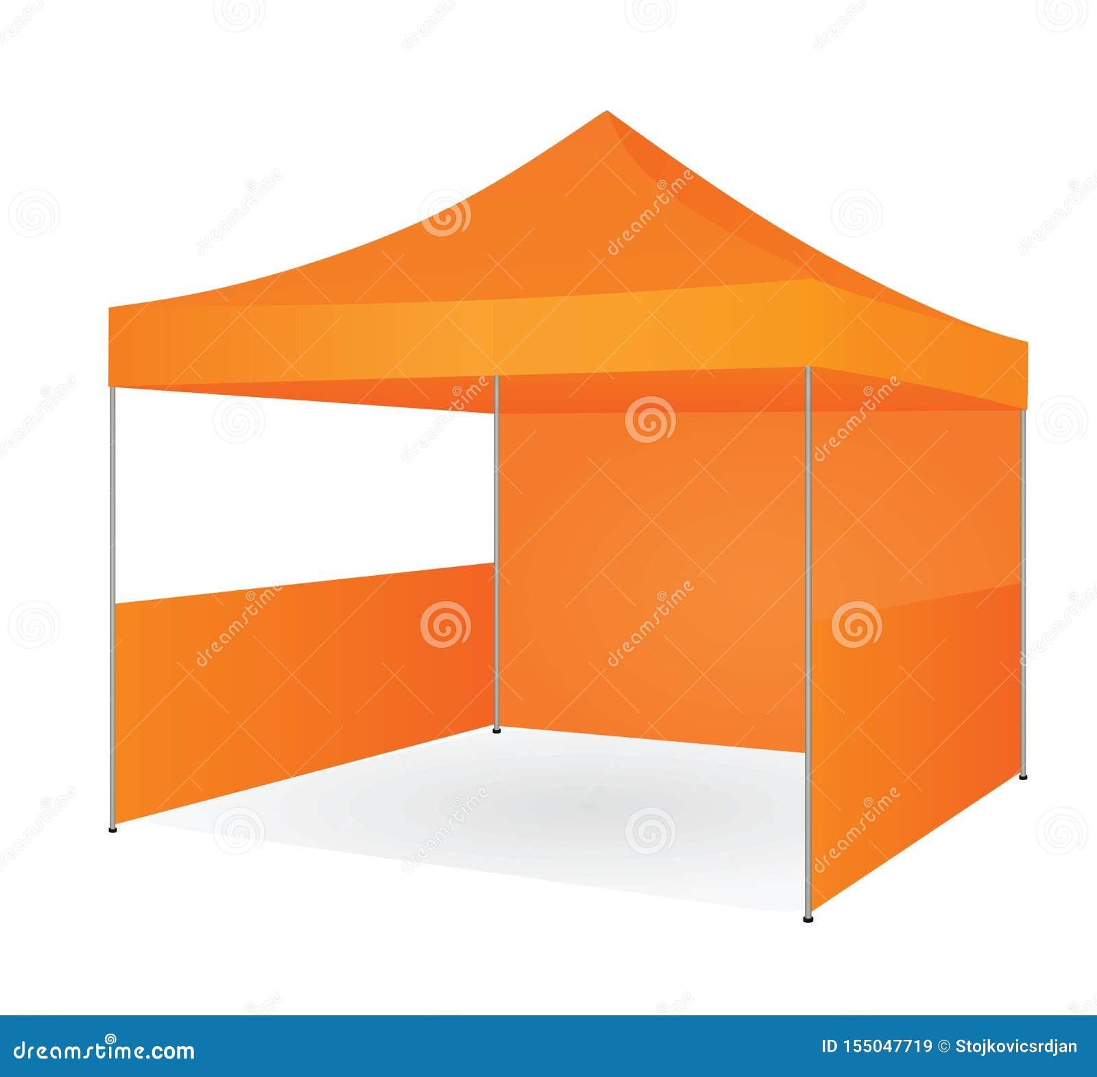 Tente promotionnelle orange