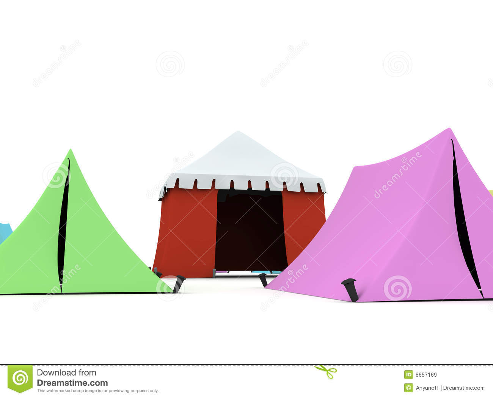 Tentes colorées