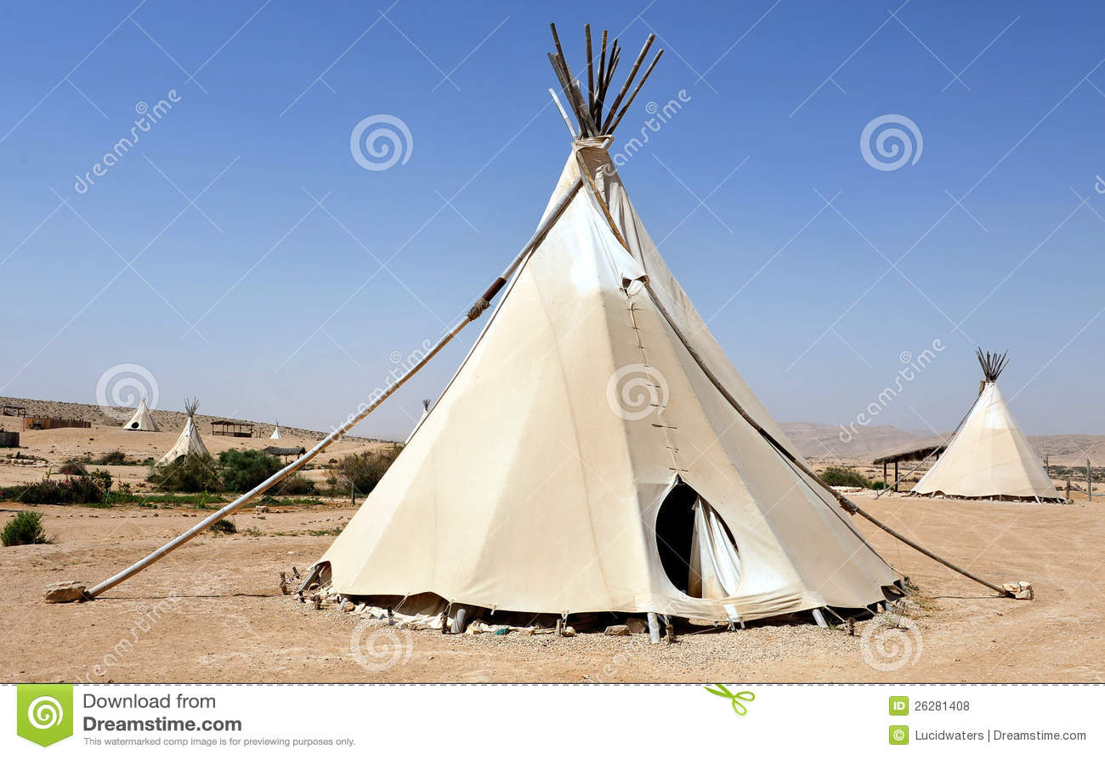 Tentes D 39 Indien De Tipi Photos Libres De Droits Image 26281408