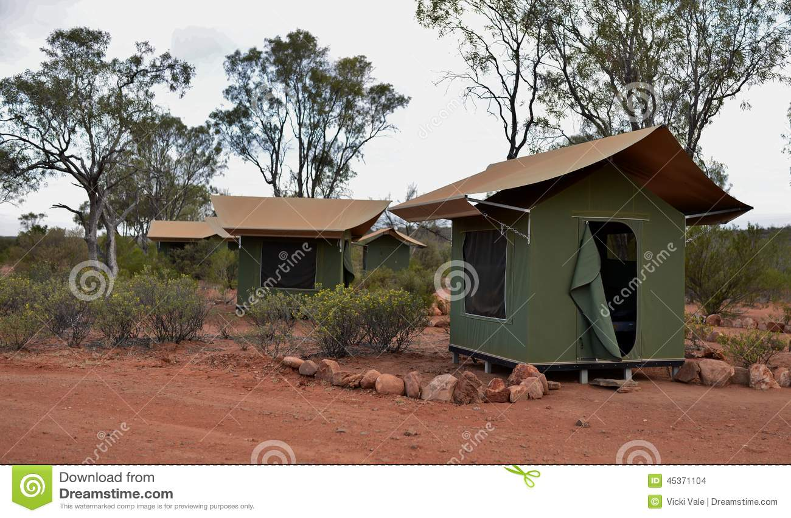Tentes de toile dans l Australie d intérieur