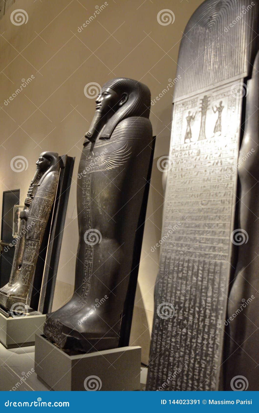 Tentoonstelling van sarcophag