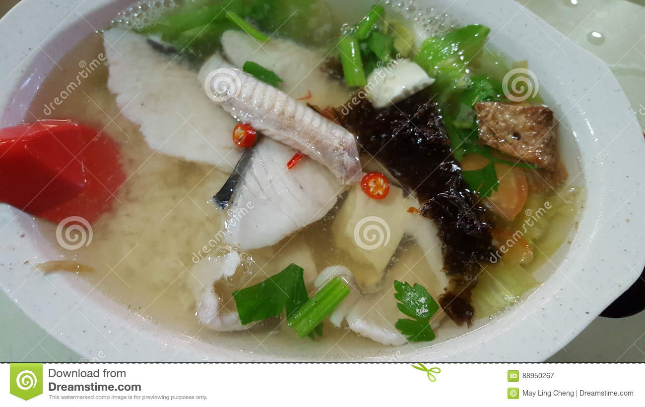 Teochew Fish Soup With Rice Stock Image Image Of Dinner Delicious 88950267