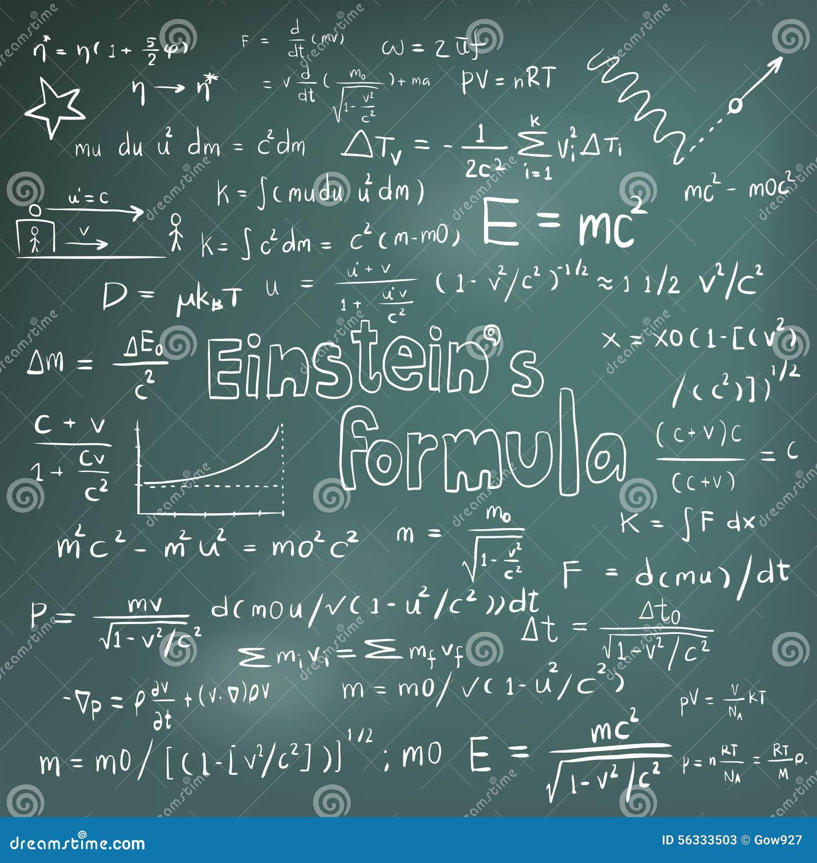 Teoría de la ley de Albert Einstein y equa de la fórmula matemática de la física