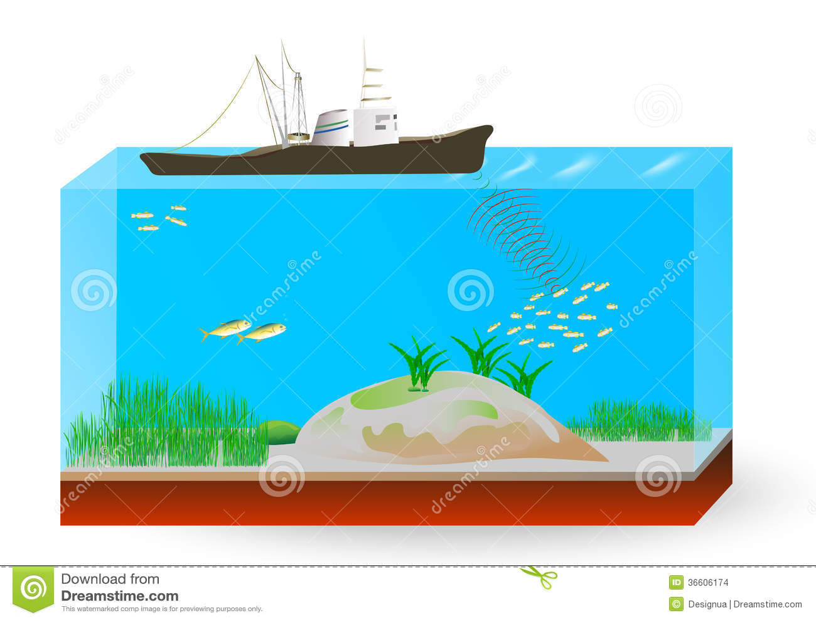 Teoría de operación del sonar subacuático