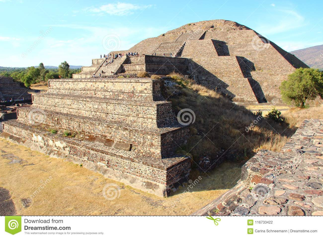 Teotihuacan - aztec pyramid in Mexico