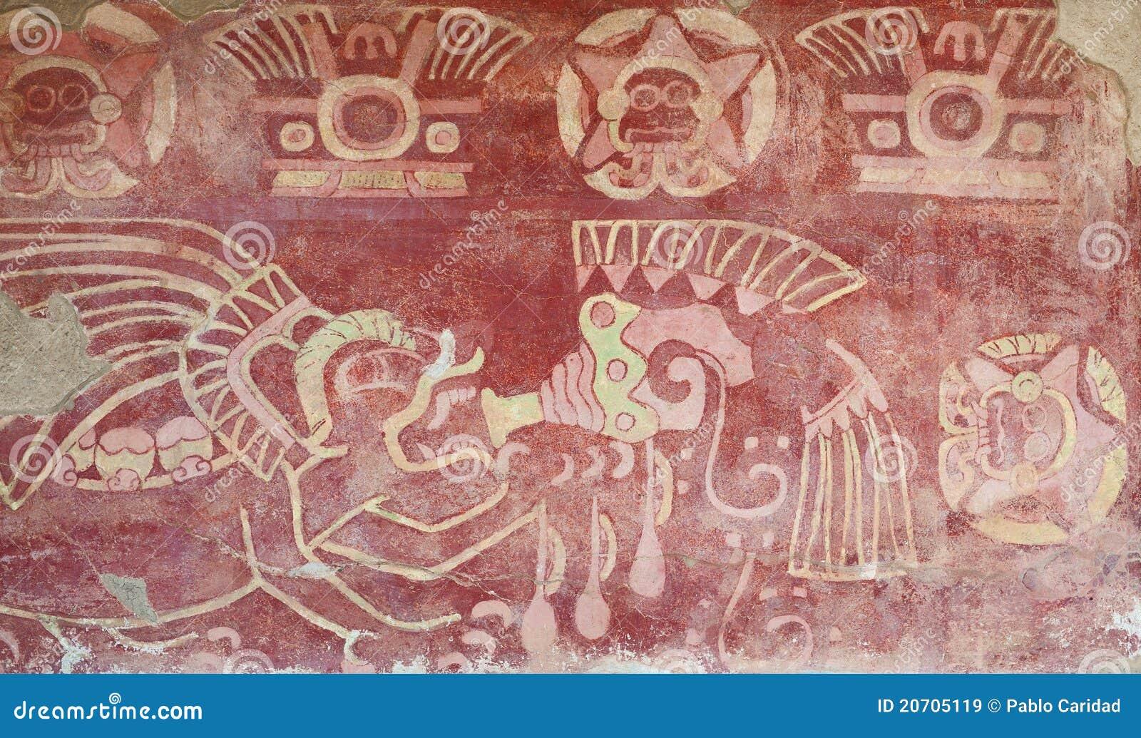 Teotihuacan inre målat tempel