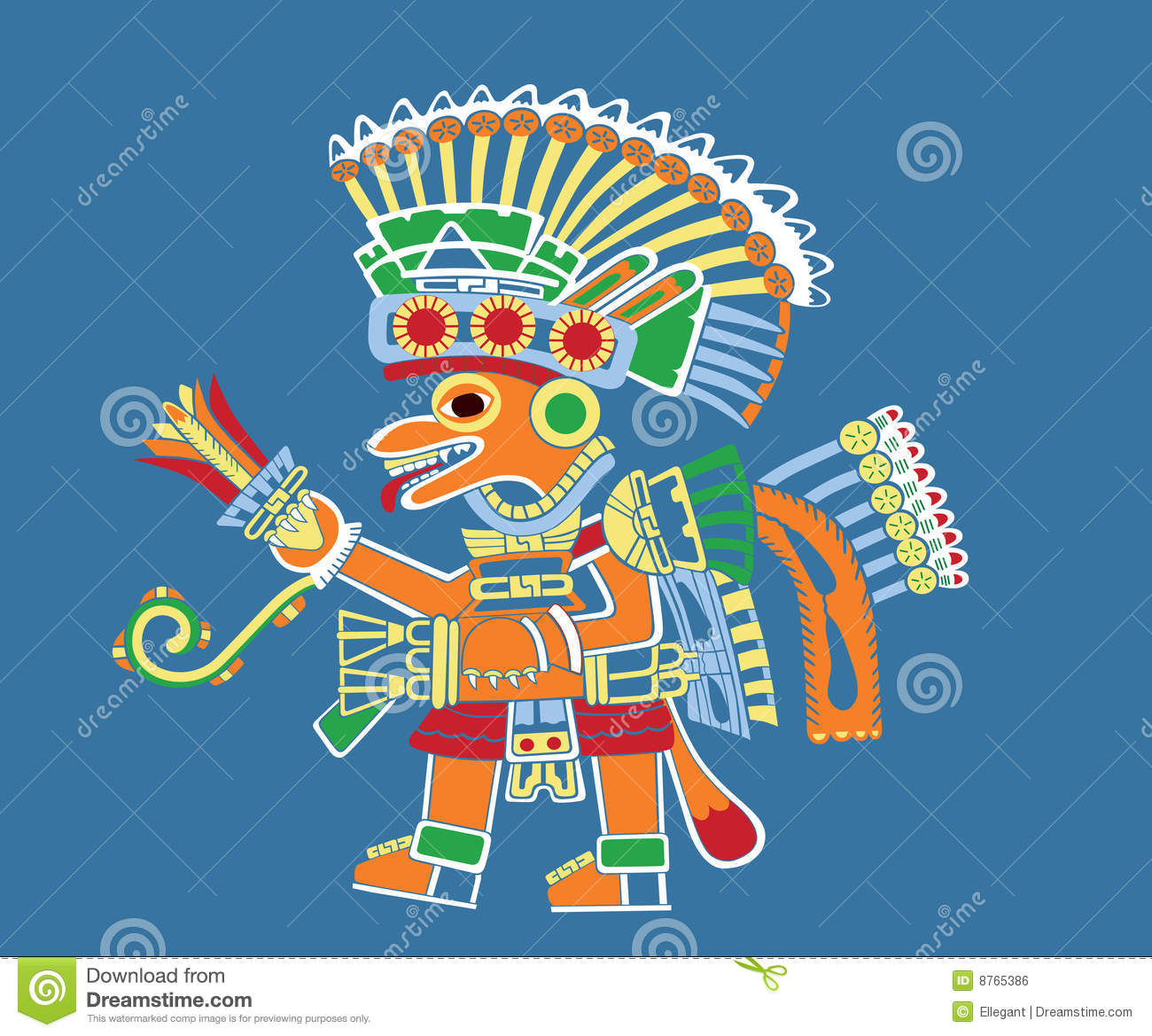 Download Teotihuacan painting stock vector. Illustration of ancient - 8765386