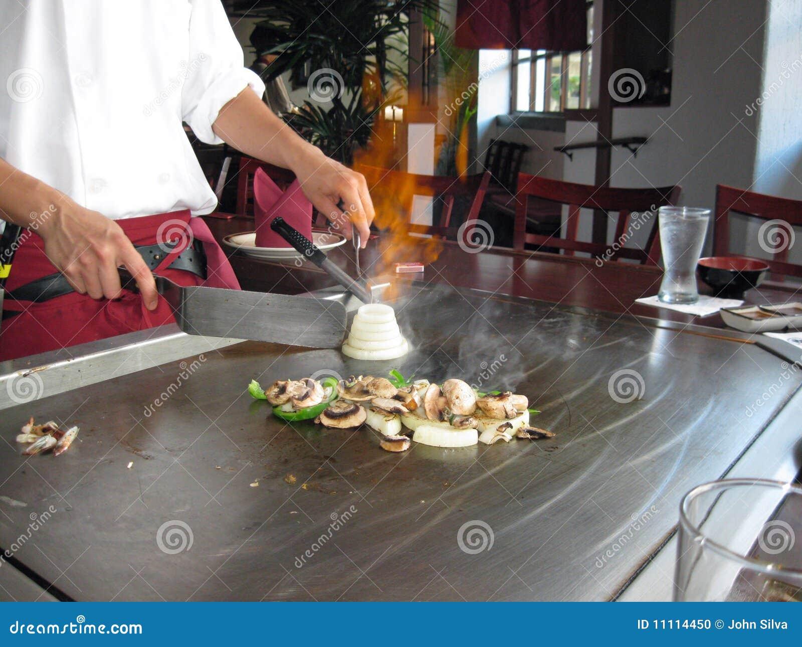 Teppanyaki Style Cooking Stock Photo Image 11114450
