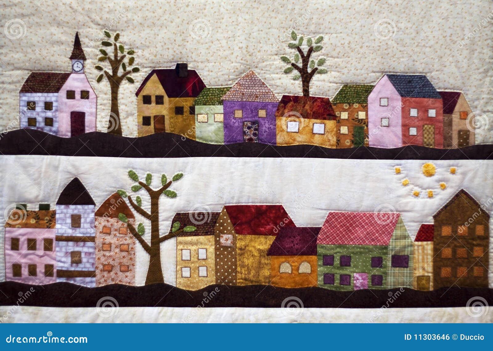 Teppich mit Landschaft