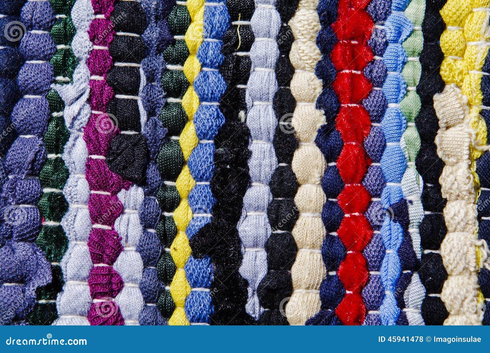 Teppich Von Farbigen Lappen Stockfoto  Bild 45941478