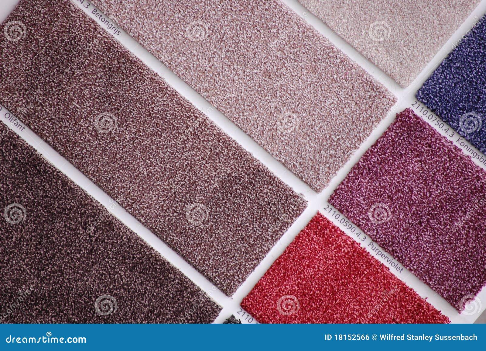 Fußboden Farbe ~ Teppichproben für den fußboden stockfoto bild von teppiche