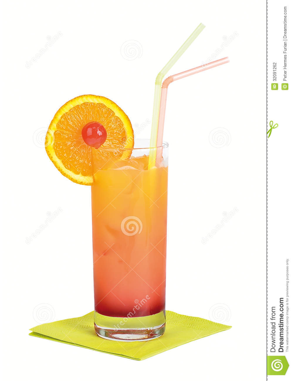 Tequila Sunrise Cocktail Stock Photography Image 32091262