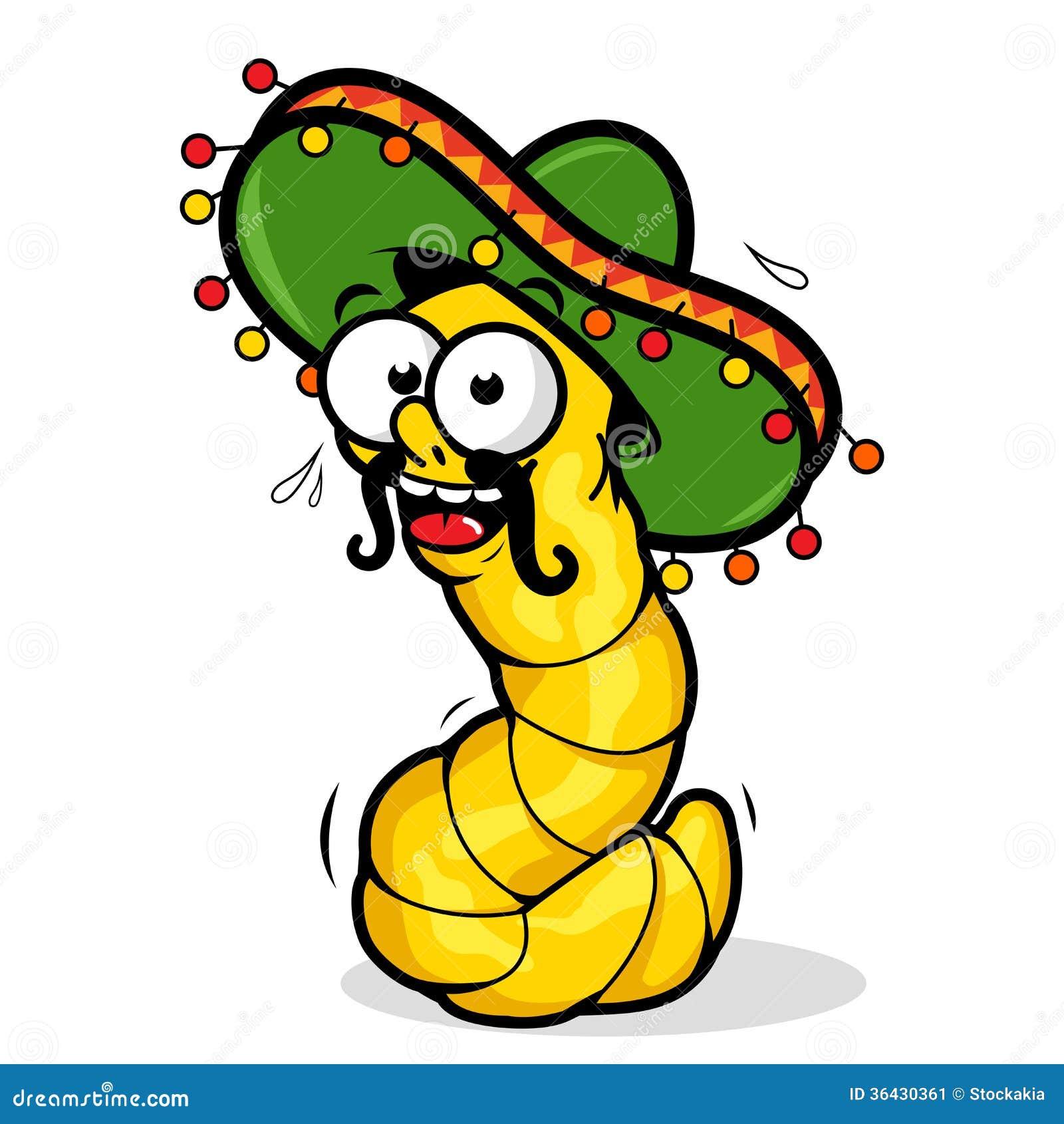 tequila worm stock vector illustration of liquor mexico 36430361