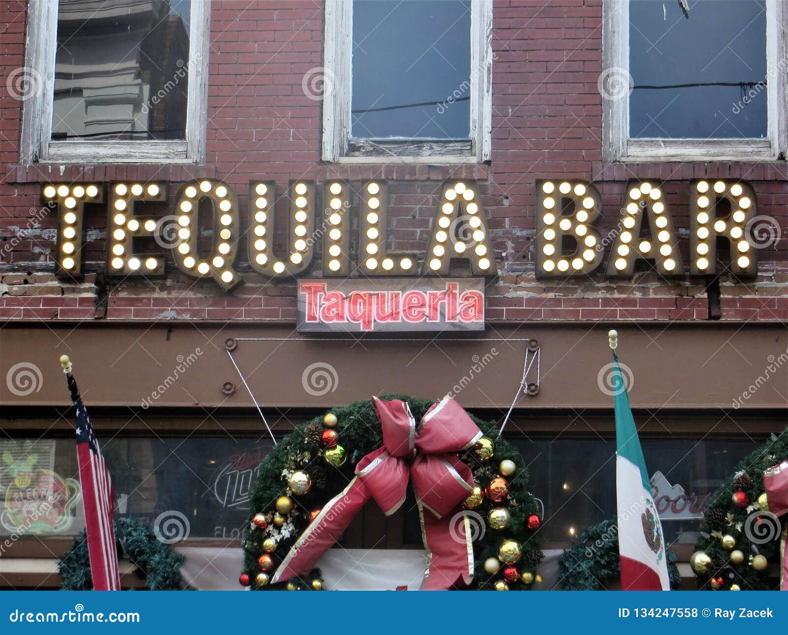Tequilastång och taqueria, Ybor stad, Tampa, Florida