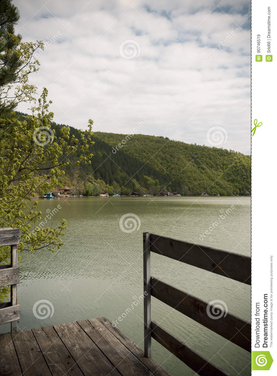 Terace by the lake