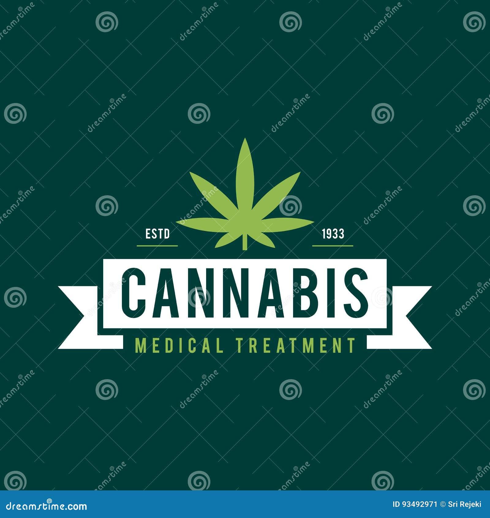Terapi för design för tappningmarijuanaetikett, cannabishälso- och läkarundersökning, vektorillustration