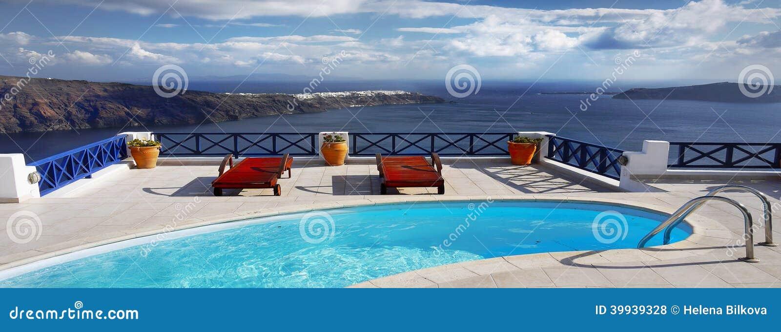 Terapia de relajación de la piscina del balneario del jefe