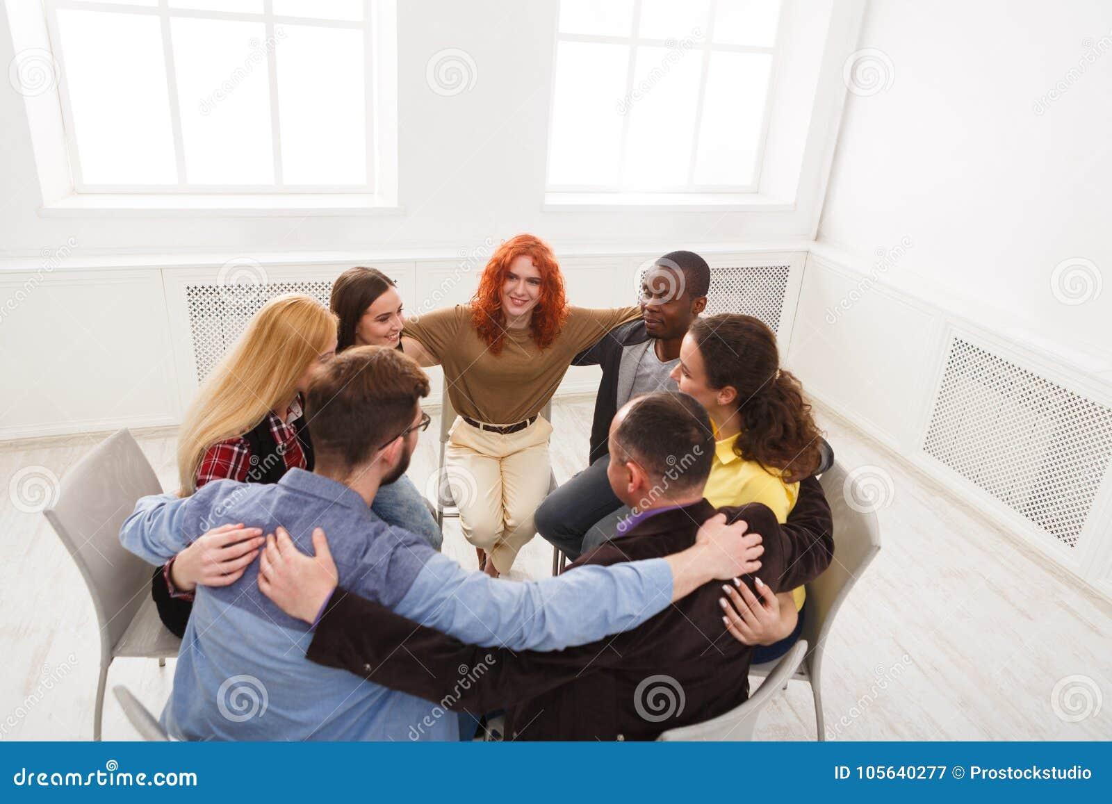 Terapia Di Sostegno.Terapia Del Gruppo Riunione Di Sostegno Di Psicologia