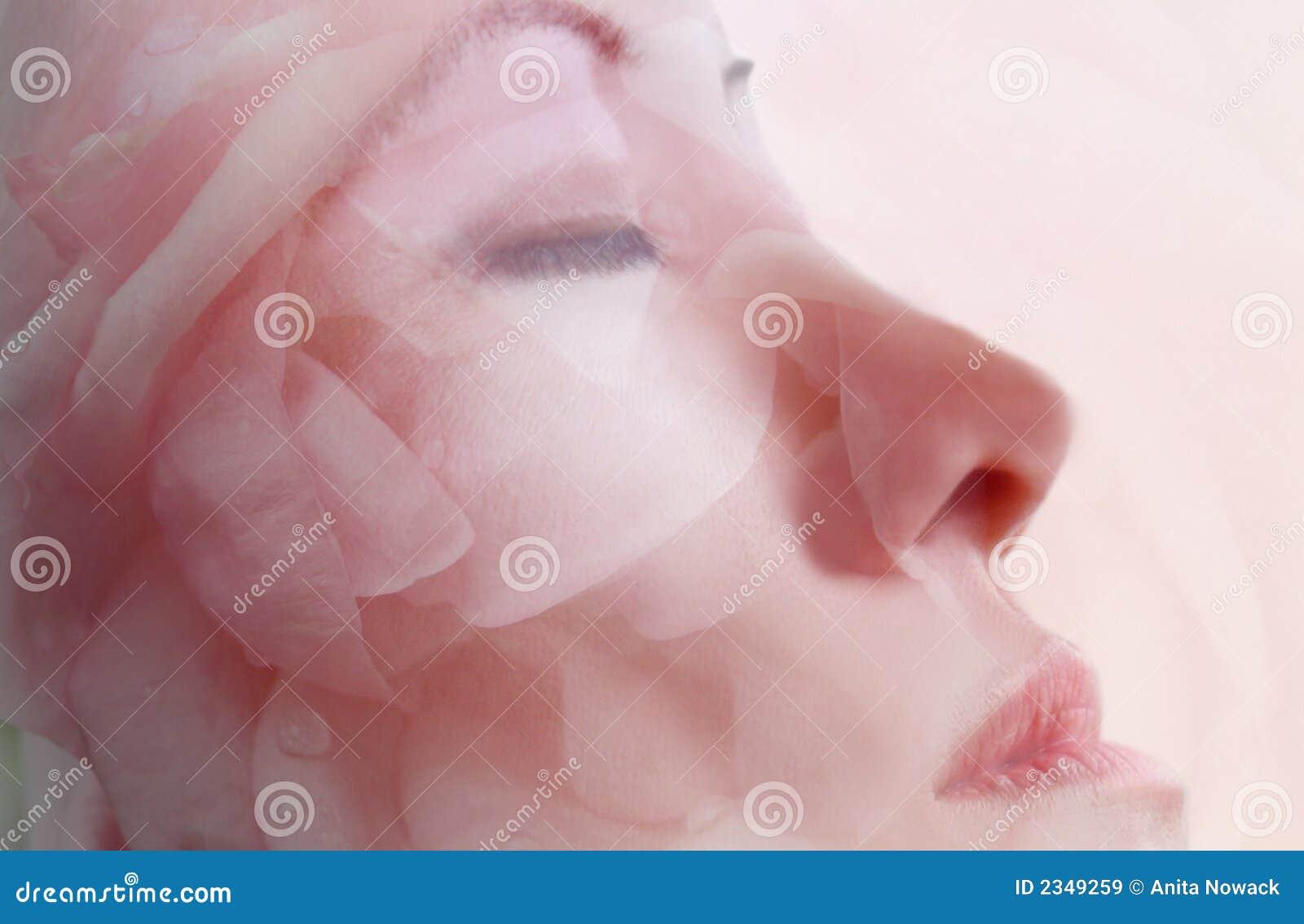 Terapia facial da máscara da flor