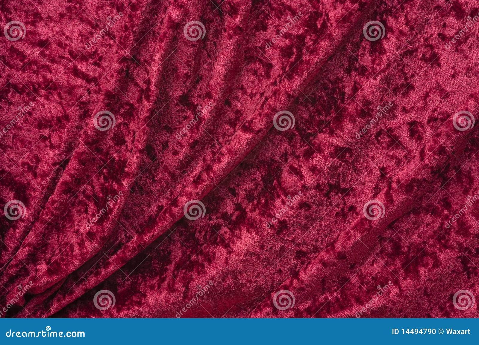 Material de tela de terciopelo Terciopelo machacado-Rojo