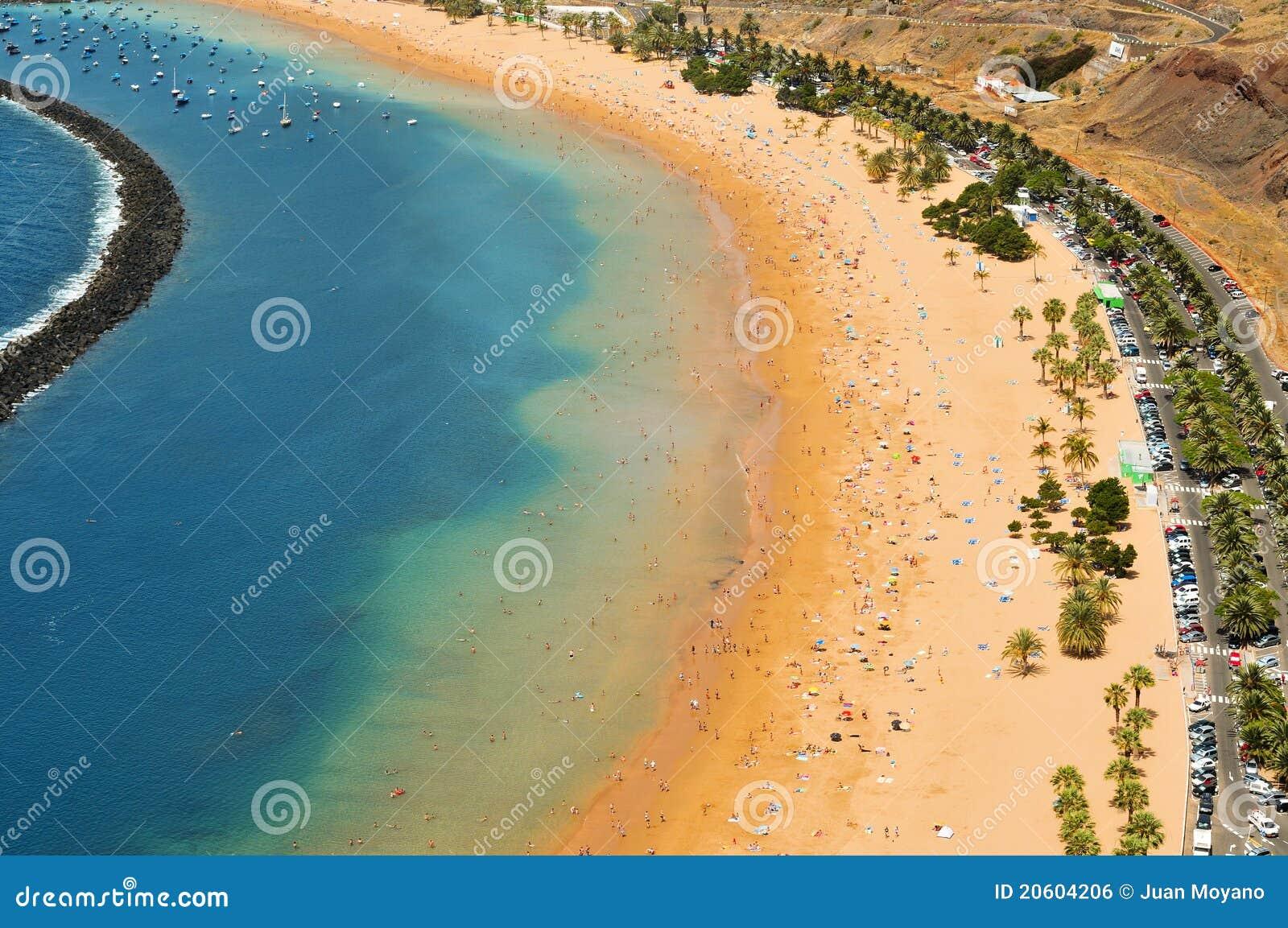 Teresitas Испании tenerife Канарских островов пляжа