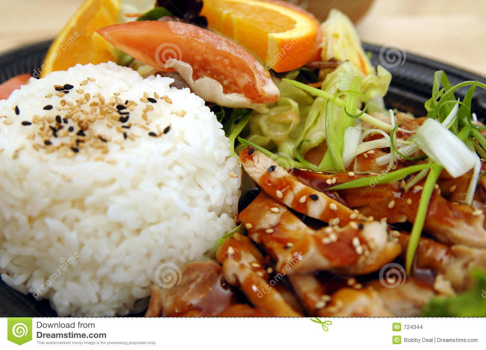 Teriyaki πιάτων κοτόπουλου