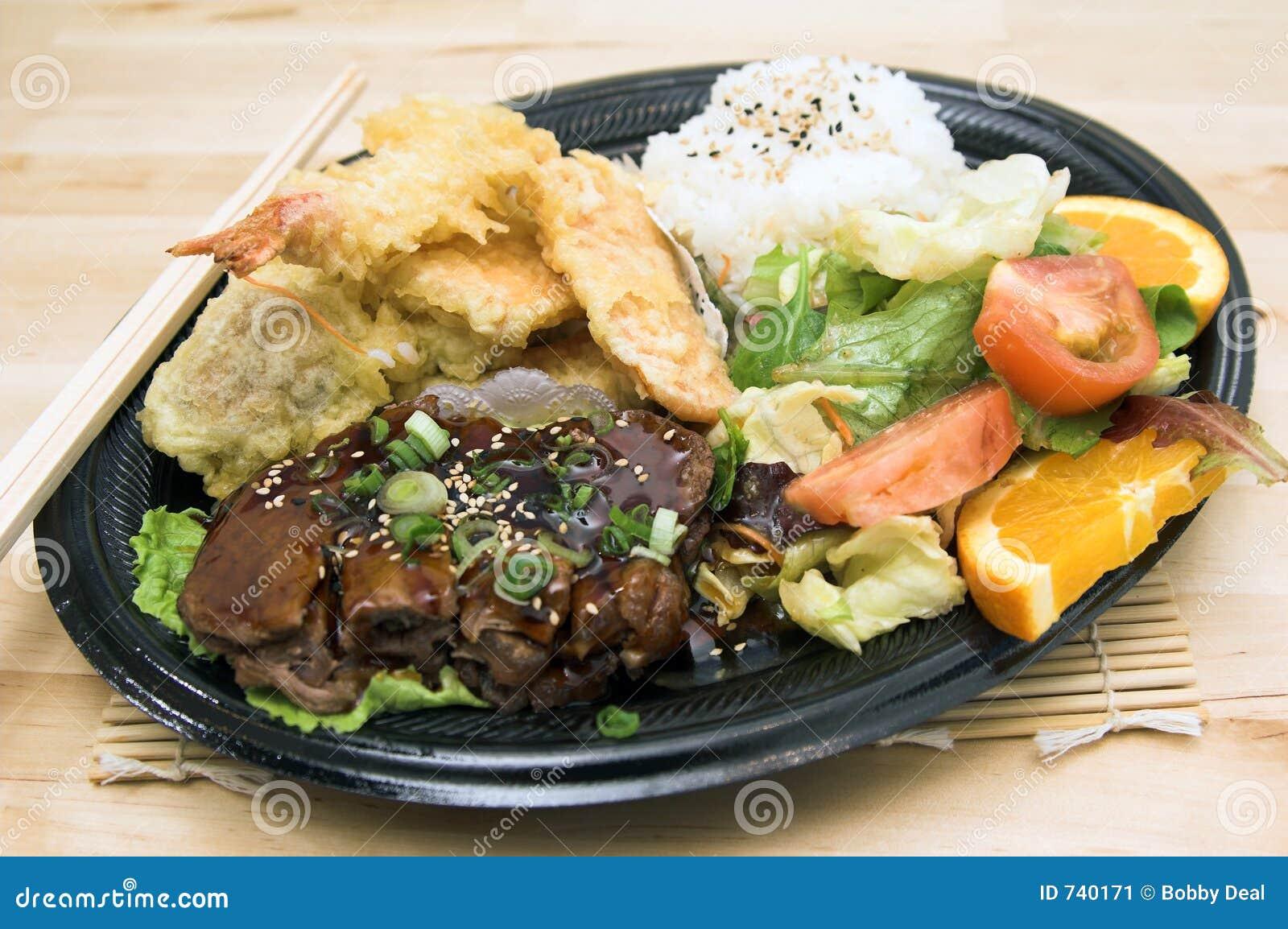 Teriyaki πιάτων combo βόειου κρέατος