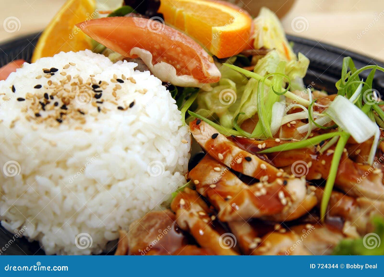 Teriyaki плиты цыпленка