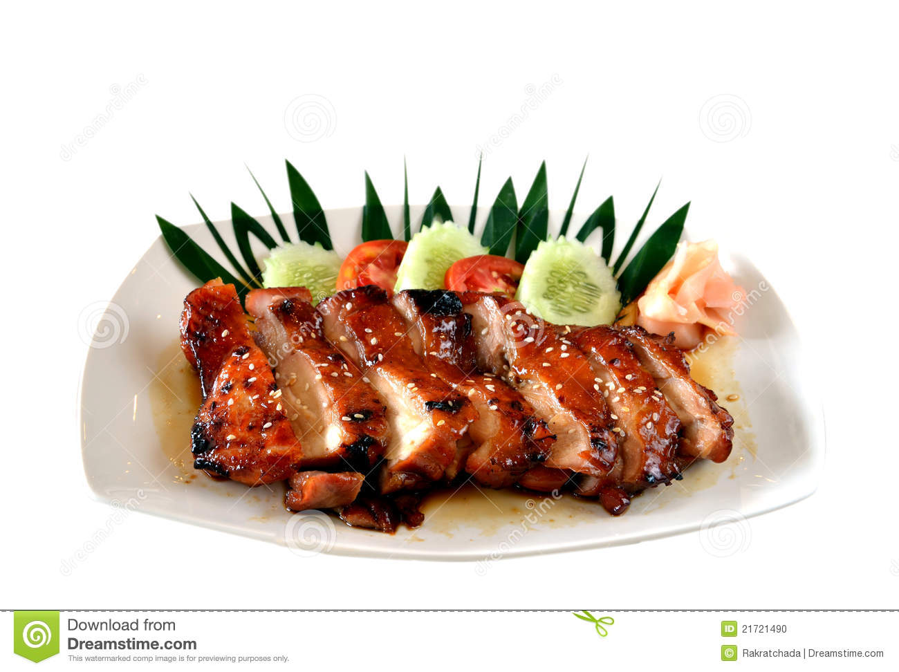 Teriyaki chicken delicious japanese food