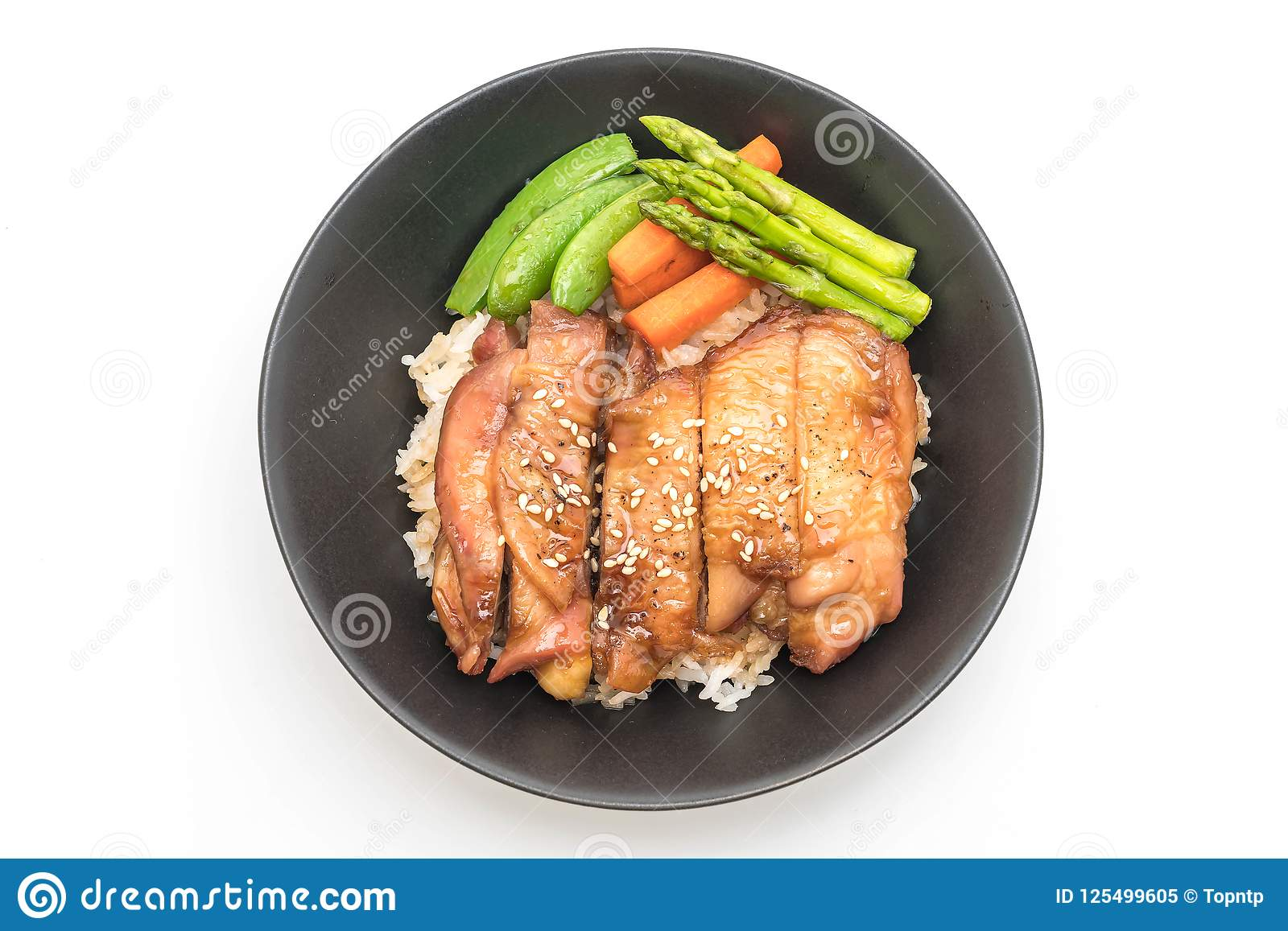 Teriyaki Chicken Rice Bowl Stock Image Image Of Asian