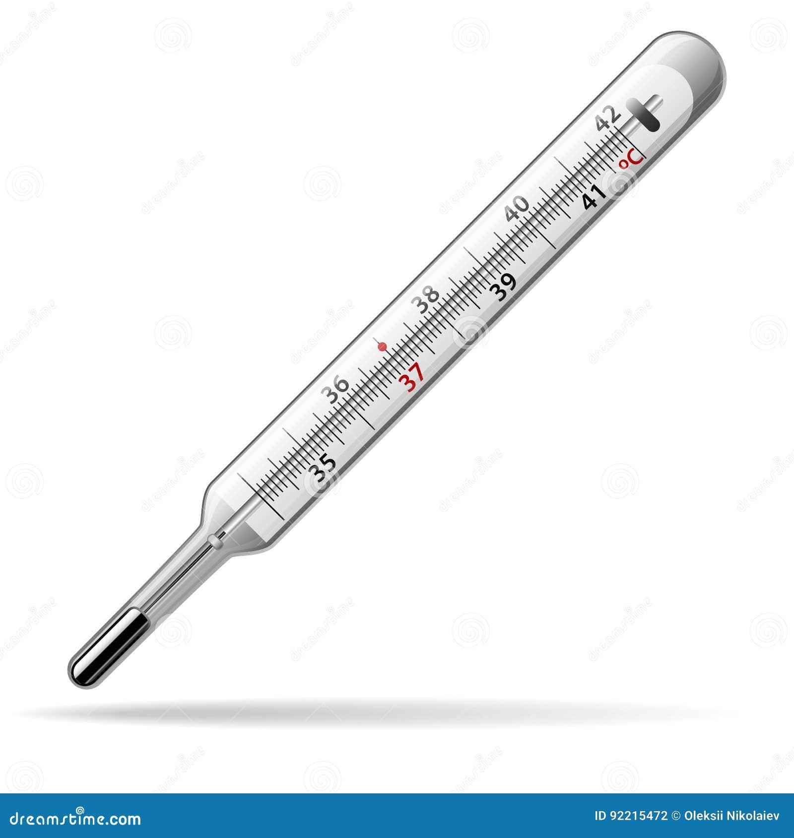 Term metro m dico un term metro de mercurio de cristal para medir la temperatura del cuerpo - Termometro de pared ...