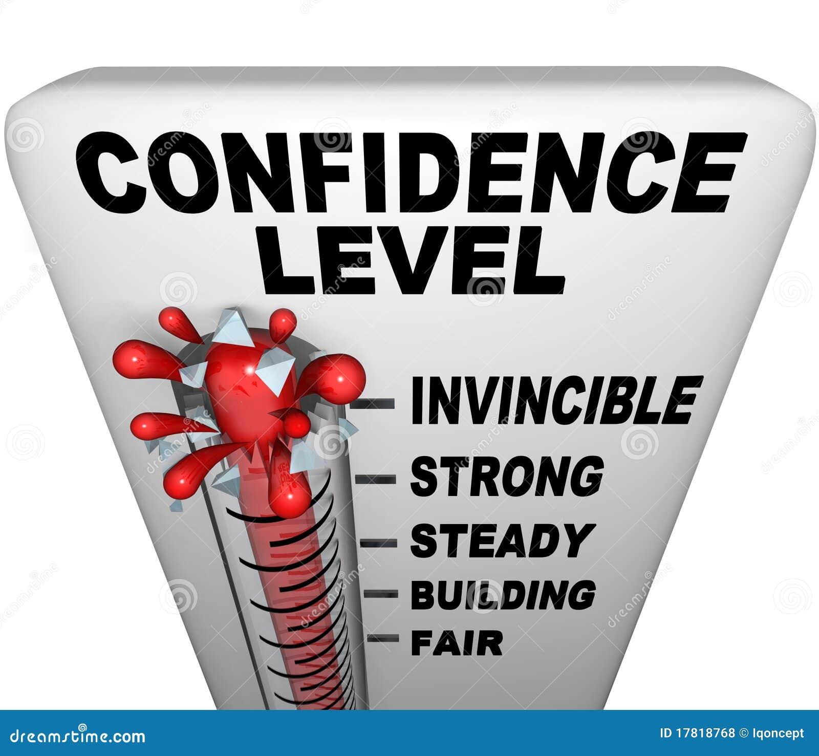 Termómetro - nivel de confianza