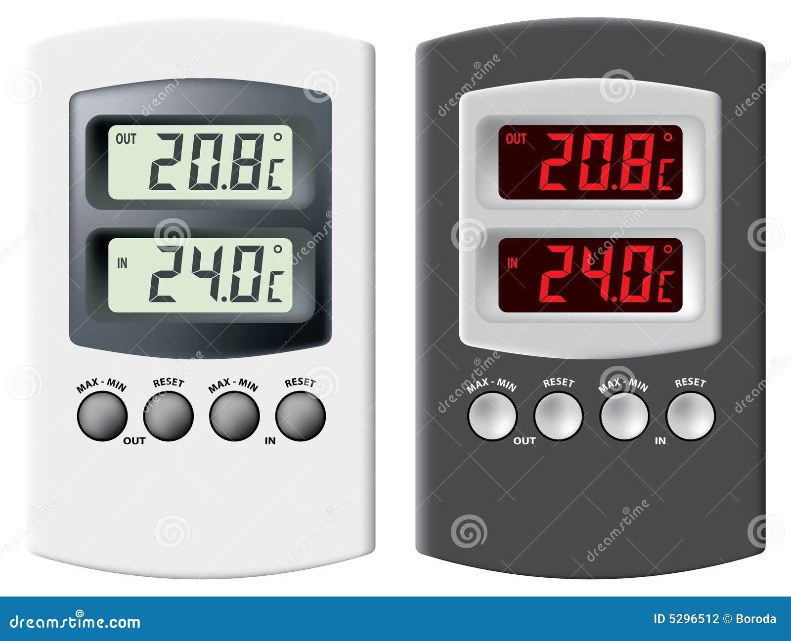 Termômetro eletrônico.