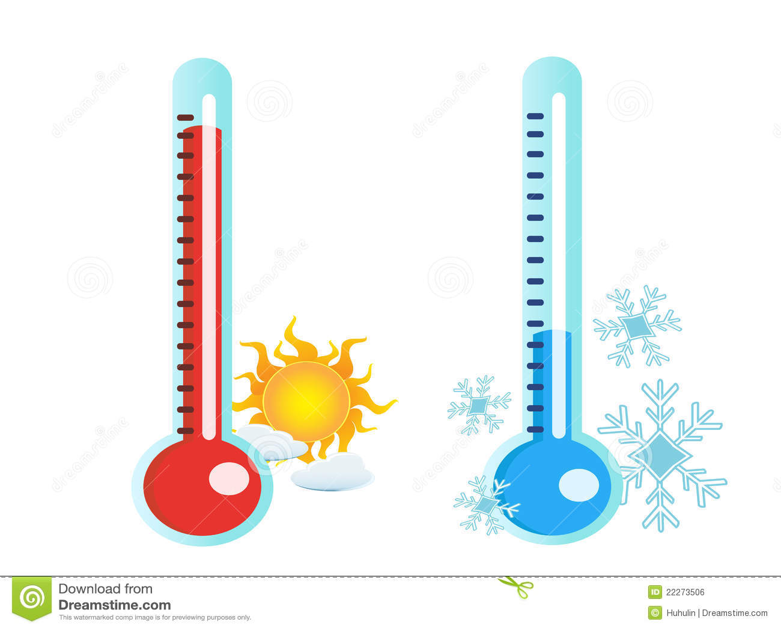 Termometro Na Temperatura Quente E Fria Ilustracao Do Vetor Ilustracao De Termometro Temperatura 22273506 El termómetro es un instrumento de medición de temperatura. dreamstime