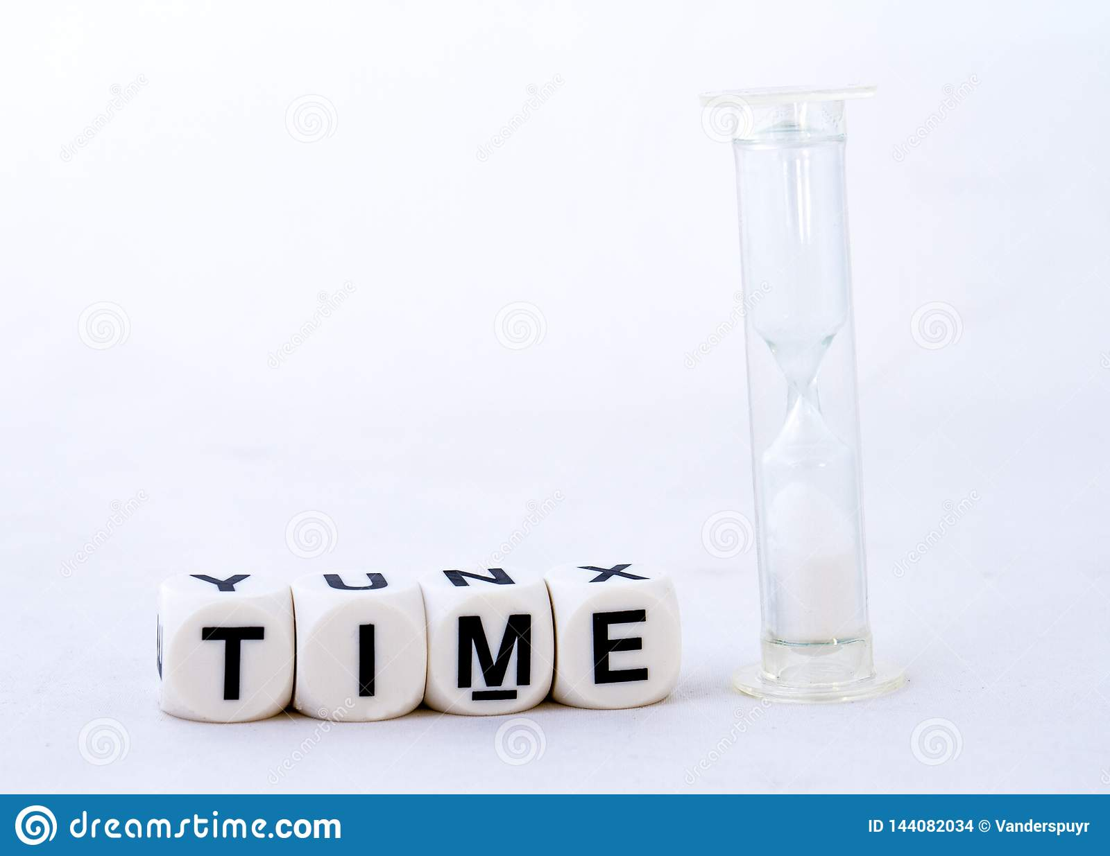 The term time on a white background - concept image