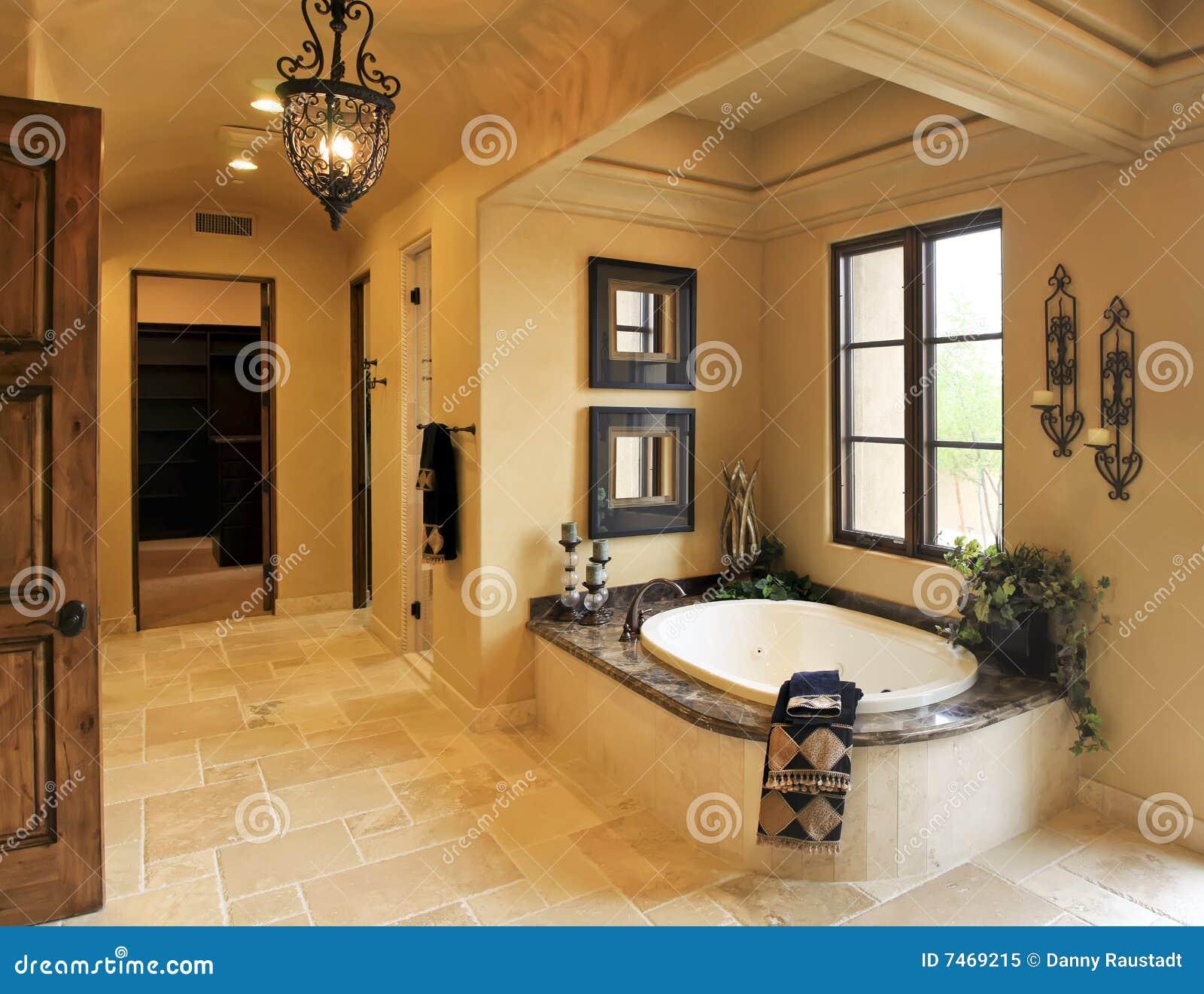 Termas Do Banheiro Da Mans O Do Recurso Imagem De Stock Imagem  ~ Mansões Por Dentro Cozinha