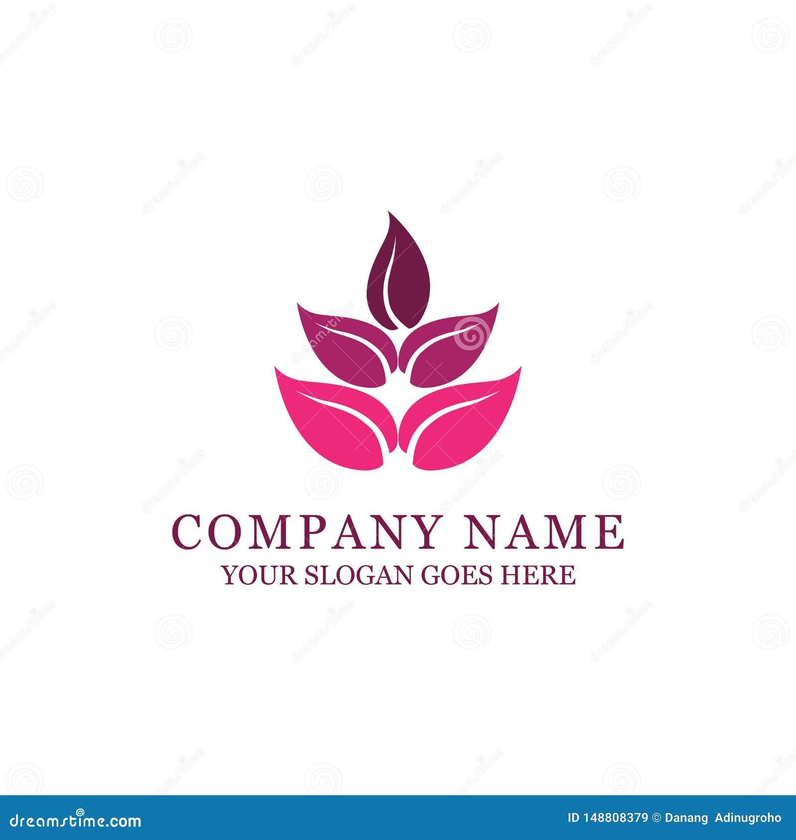Termas e projeto do logotipo do estilo da forma com flor abstrata