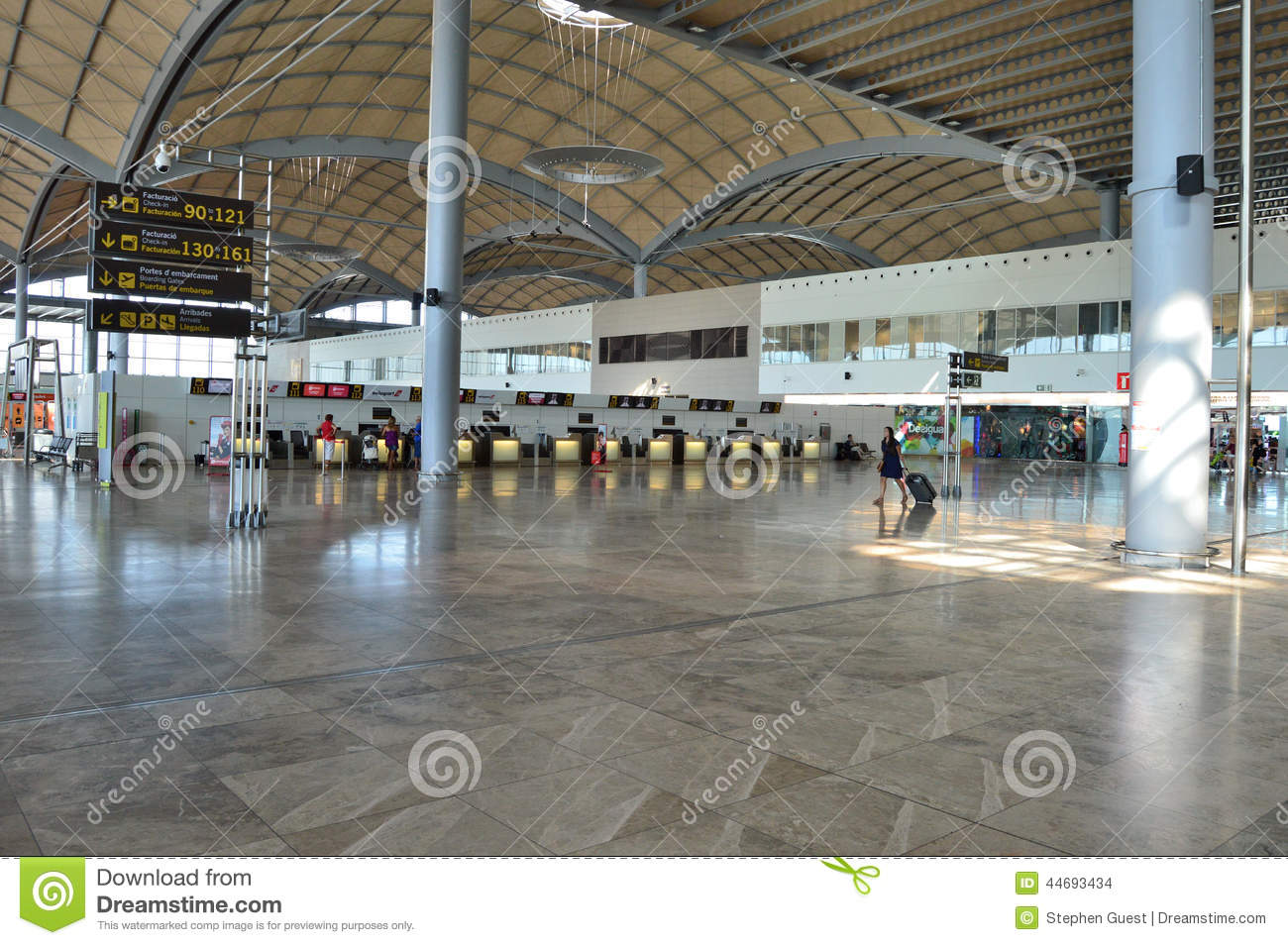 Terminal building alicante airport editorial stock image - Stock uno alicante ...