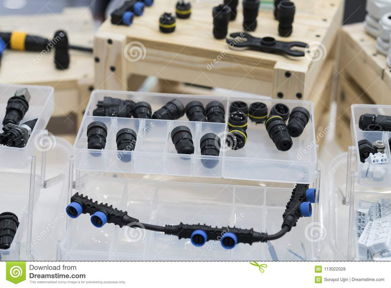 Quick Connect And Release Terminal Connector Stock Photo Image Of Wiring Connectors For Modern Machine Industry Vct Wire Joint Equipment With Water Proof System