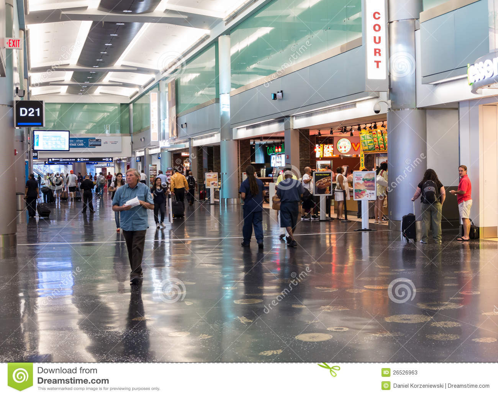 terminal d at miami international airport editorial stock
