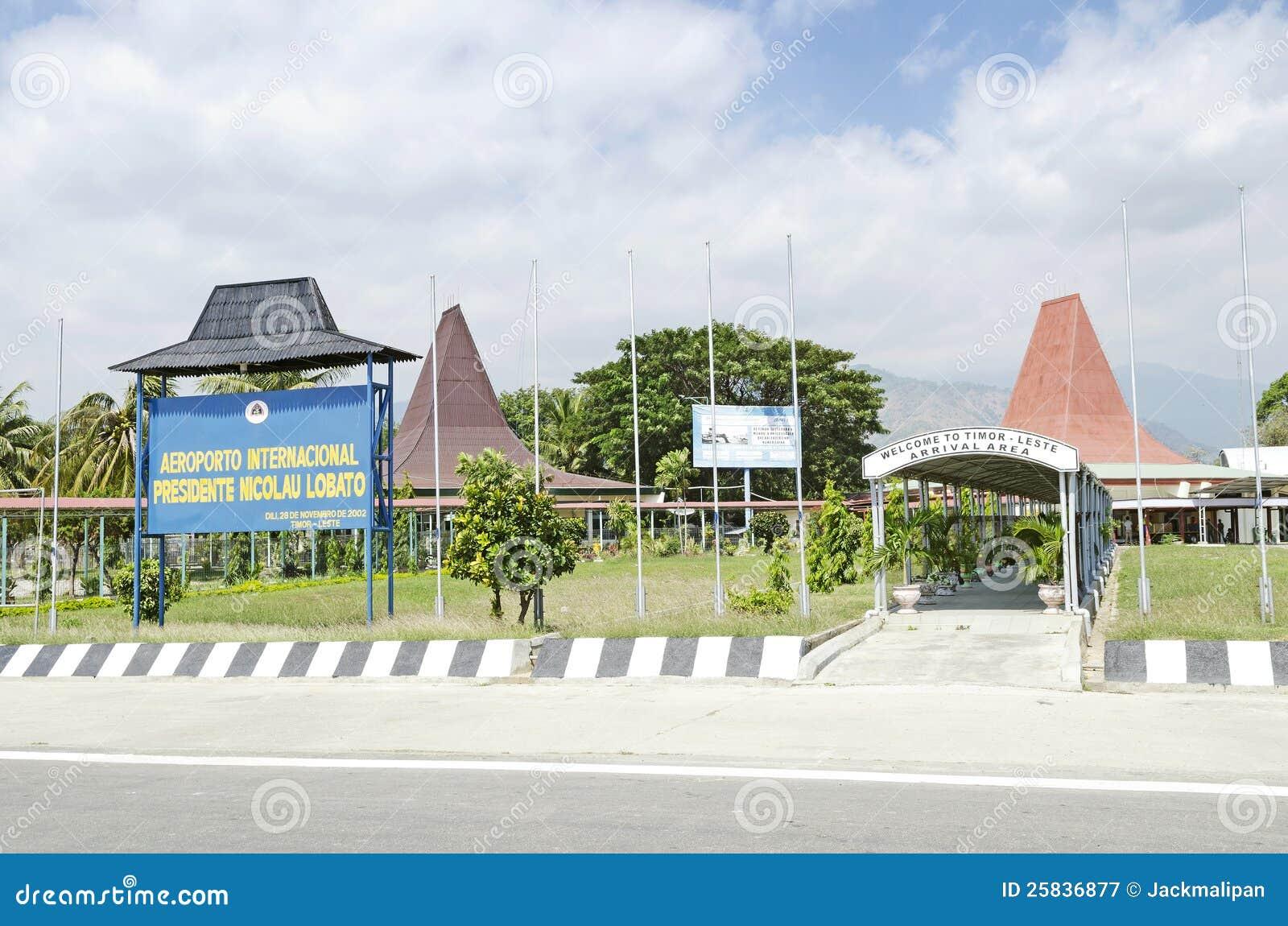 Aeroporto Dili : Terminal de aeroporto do lobito de nicolau em dili timor leste