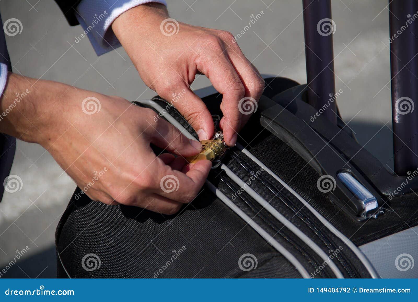 Terminal de la maleta de la seguridad del equipaje del viaje del aeropuerto