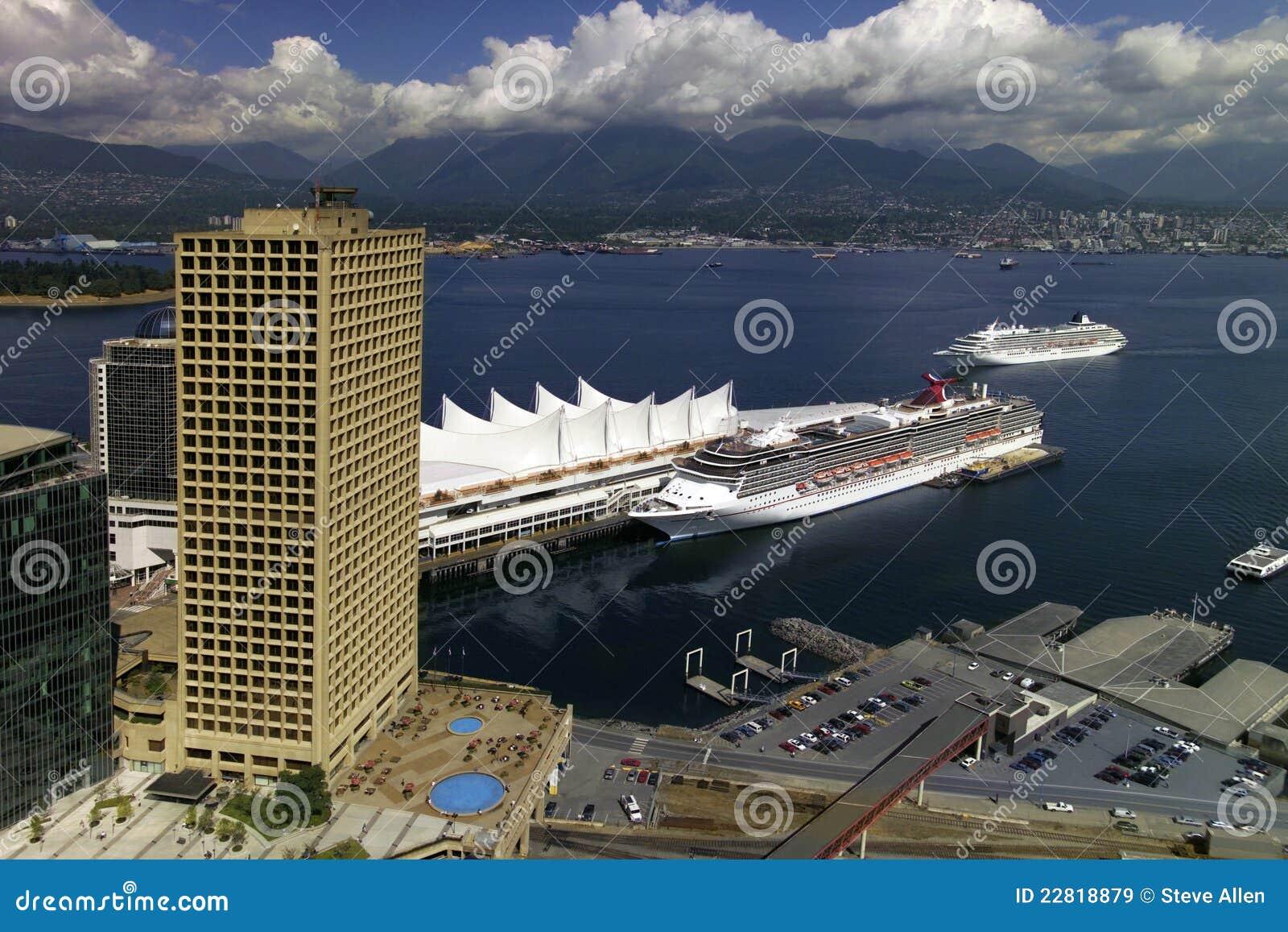 Terminal do navio de cruzeiros de Vancôver - Canadá