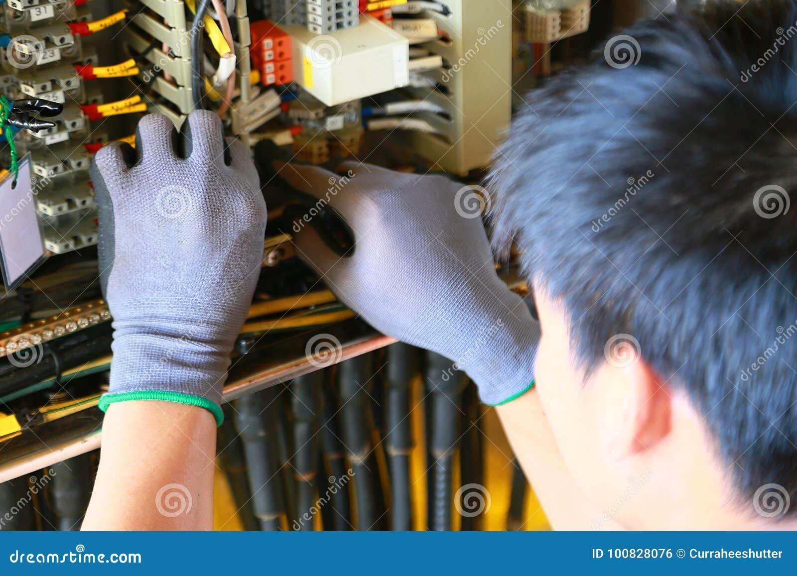 Terminal eléctrico en caja de conexiones y servicio del técnico El dispositivo eléctrico instala en el panel de control para el p