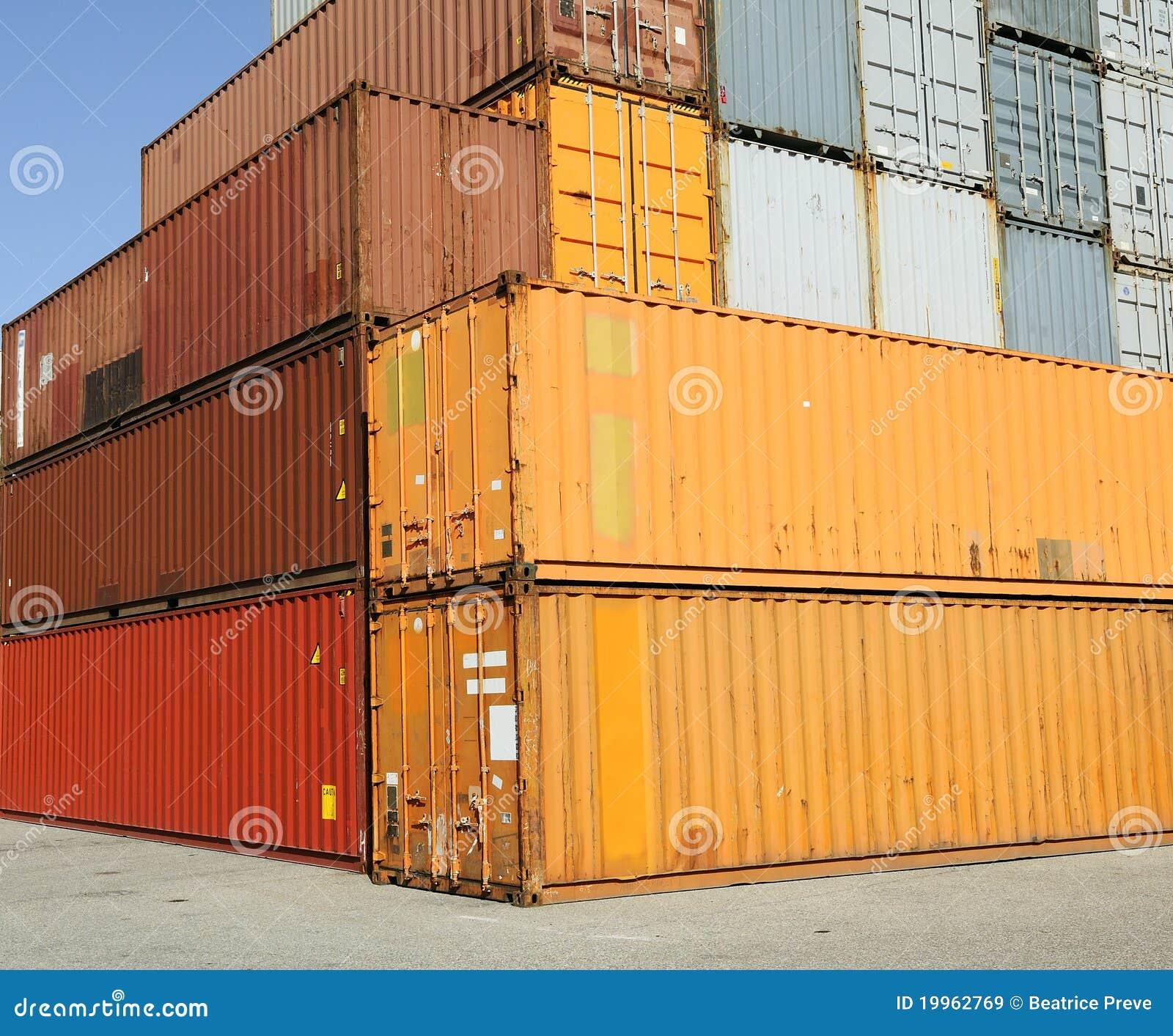 Terminal för hamn för lastbehållarefraktar
