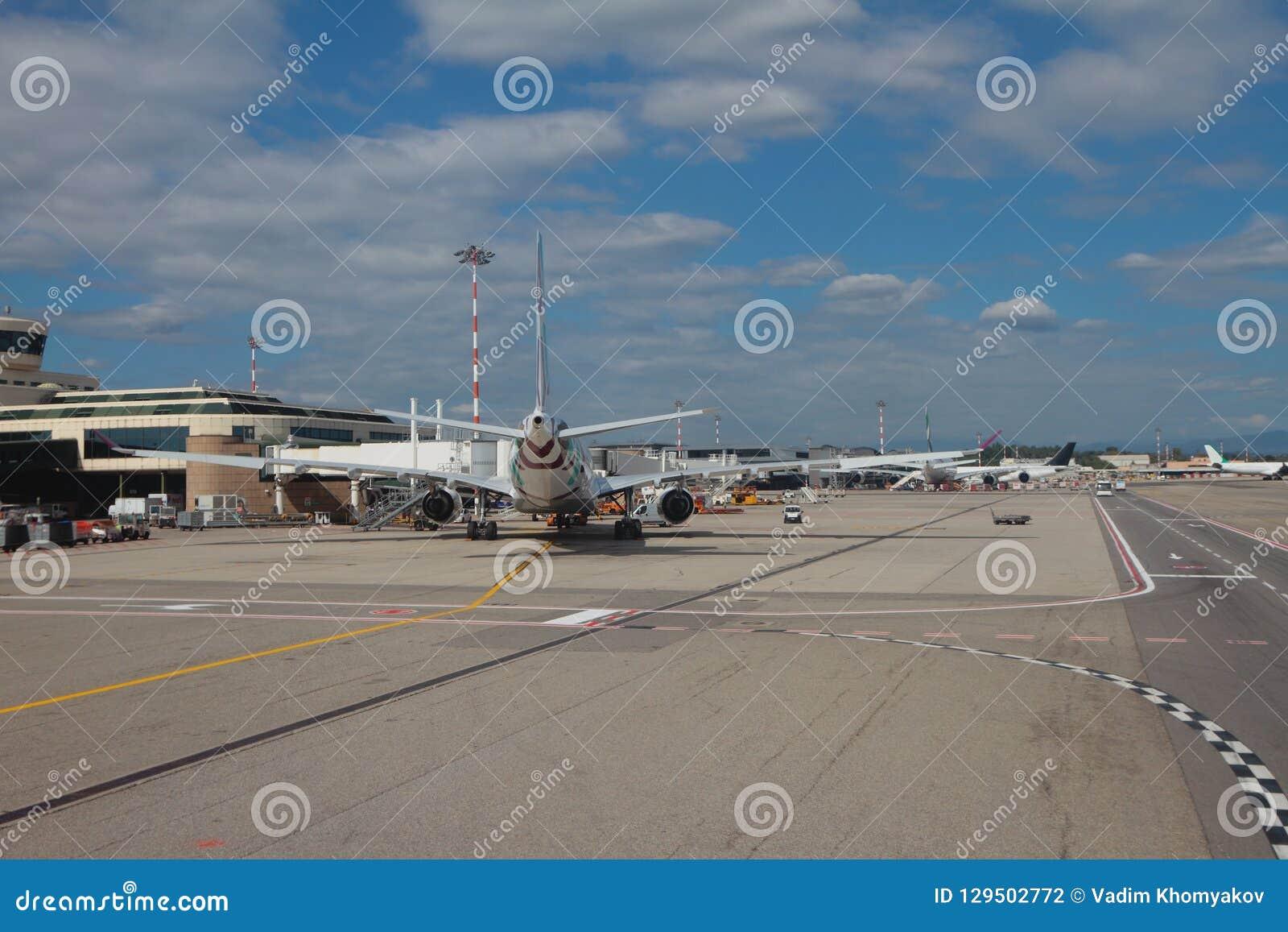 Terminal Of International Airport. Milan, Italy Editorial ...