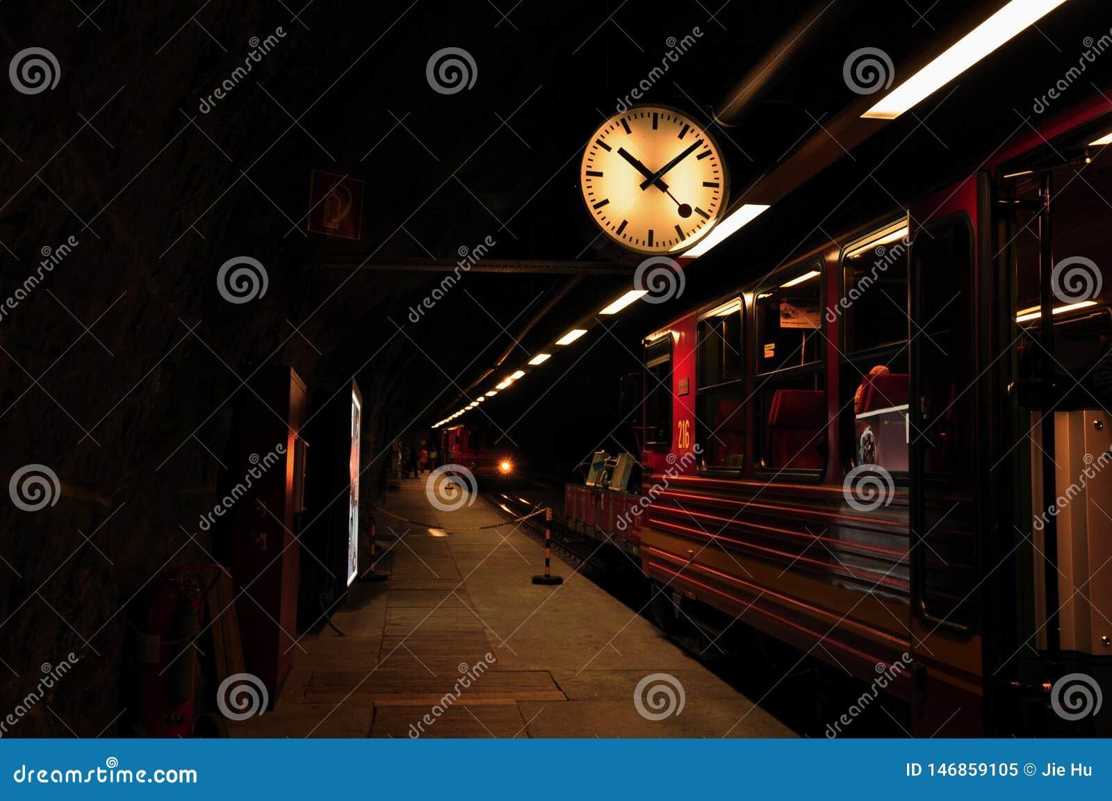 Terminal of montain train