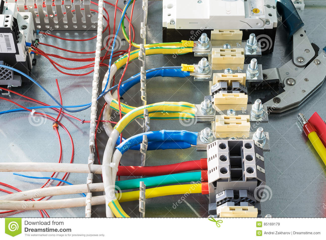 Terminal, Wire, Circuit Breaker, Cable Channels, Crimping Pliers For ...